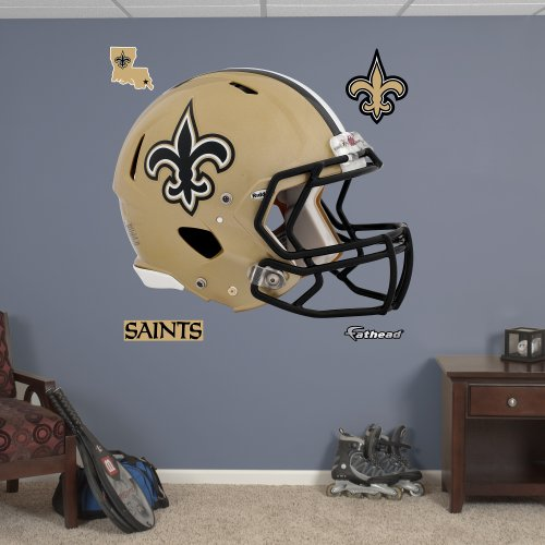 Fathead NFL New Orleans Saints New Orleans Saints: Helmet - Giant Officially Licensed NFL Removable Wall Decal