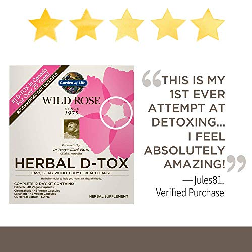 Garden of Life 12 Day Detox Cleanse - Wild Rose Herbal D-Tox Kit (12 Day) by Garden of Life (Image #1)