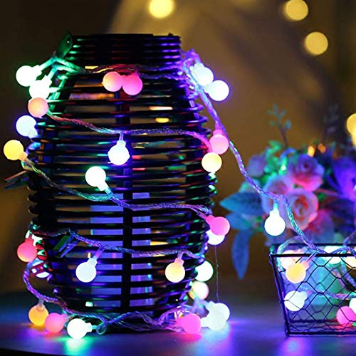 Home Garden Patio - Globe String Lights, GYDING 32.8ft 100 LED Waterproof Color Changing Plug In Ball Starry Fairy Lights for Outdoor Indoor Home Garden Bedroom Patio Wedding Party Fence Christmas Tree Gift (Multi-Color)