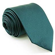 Shlax&Wing Mens Ties Necktie Solid Green Silk 63