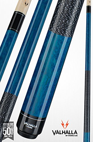 Valhalla by Viking 2 Piece Pool Cue Stick With Irish Linen Wrap VA113 (19oz, Blue)