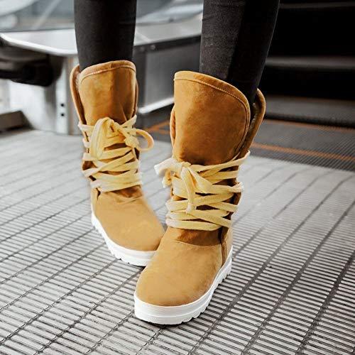 Da Calde In Spesse Invernali Antiscivolo Neve Camoscio 41 E 43 Stivali Donna Con Ig Studente 34 Opaco scarpe Scarpe giallo 5wOqpInZ