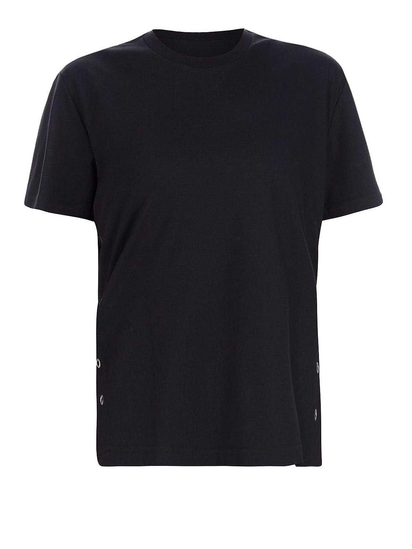 MONCLER Femme 8050000809CR999 Noir Polyester T-Shirt  Amazon.fr  Vêtements  et accessoires 726d3d64e72