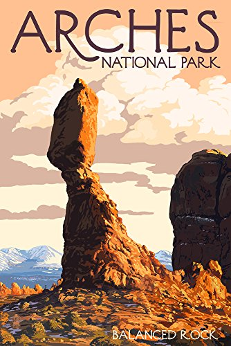Arches National Park, Utah - Balanced Rock (12x18 Art Print, Wall Decor Travel Poster) Balanced Rock Arches National Park