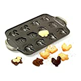 Norpro 3967 Nonstick Farm Cookie Pan 6 Shapes Animals And Barn Makes 12