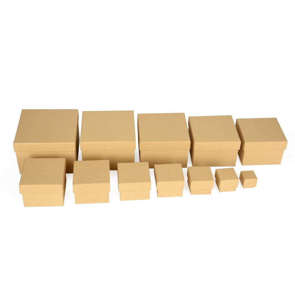 ewtshop® Gift Boxes Sturdy Material with Fine Kraft Paper Covered Boxes, Suitable for Scrapbooking, Set of 12