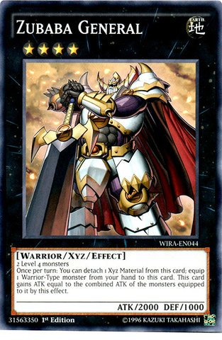 Yu-Gi-Oh! - Zubaba General - WIRA-EN044 - Common - 1st Edition (WIRA-EN044) - Wing Raiders - 1st Edition - Common