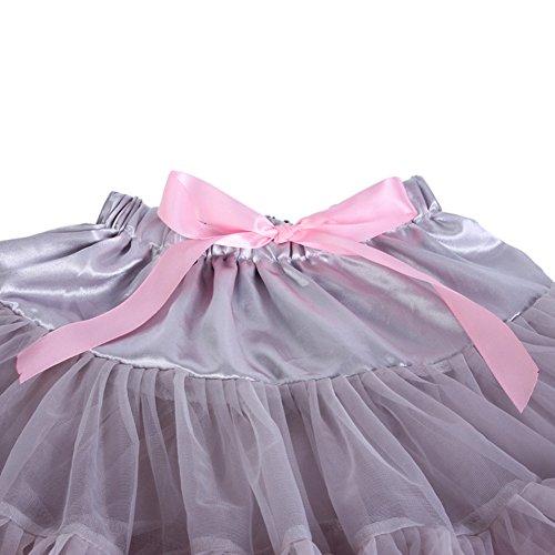 Princesse Fluffy 40cm Bouffe Femmes FOLOBE Tutu Pettiskirts 16in Flg Mesh Jupe Petticoat pwHfWSxtq