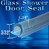 Ds108 5/32'' Tall Bubble Seal Frameless Glass Shower Door Seal, Wipe, Sweep - 98'' Length - Over $50 Free Shipping!!!