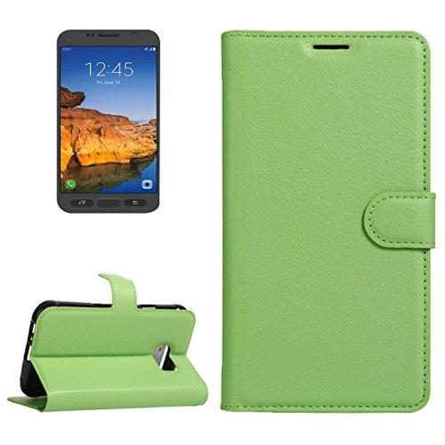 Fashion & personality Para la galaxia S7 S-Shaped activo de Samsung Caja suave de la cubierta protectora de TPU ( Color : Purple ) Green