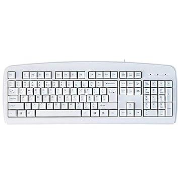 OUKB Teclado alámbrico USB Computadora portátil Computadora portátil Juego de Oficina Casa Botón para Escribir Cómoda Durabilidad a Prueba de Agua (Color ...