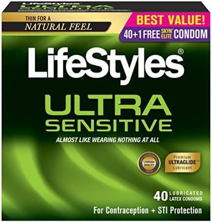 LifeStyles Ultra Sensitive Condoms, 40ct