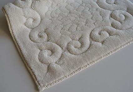 Tris parure tappeti bagno art regal colore beige amazon casa
