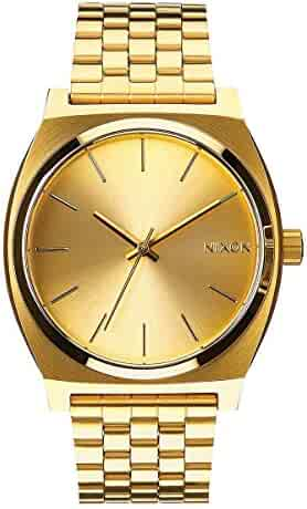 Nixon Time Teller All Gold Women's Watch (37mm. All Gold Face & Gold Metal Band)