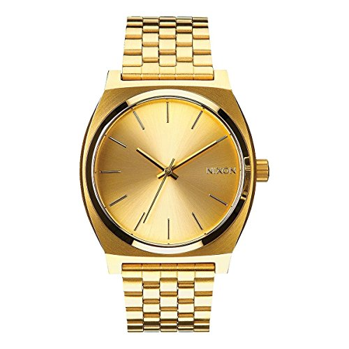 Nixon Time Teller A045511-00. Women's Gold Watch (37mm. Gold Metal Band/Gold Watch Face) by NIXON