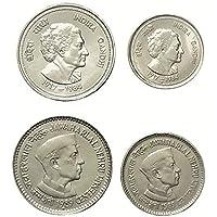 Genuine Coins Gallery.Jawaharlal Nehru,Indira Gandhi 4 Coins.