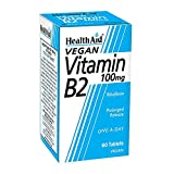 HealthAid Vitamin B2 (Riboflavin) 100mg - Prolong Release - 60 Tablets
