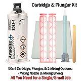 Huntsman Araldite 2021-1 Toughened 5-Min Methacrylate Kit (MMA) Multi-Use Adhesive (50ml/1.7oz) Hand Plunger