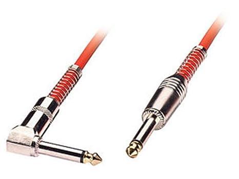 Lindy 6002 – Cable de guitarra con conector recto a conector en ángulo de 90º,
