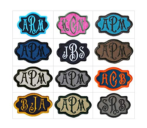 Custom Embroidered Carson Script Font Name Initial Monogram Iron On Applique Patch -