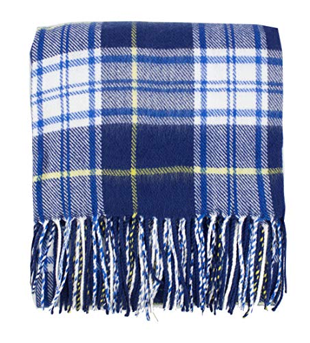 (Fennco Styles Cozy Tartan Plaid Design Tassel Throw Blanket 50
