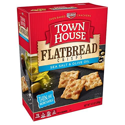 - Keebler, Town House Flatbread Crisps, Crackers, Sea Salt and Olive Oil, 9.5 oz