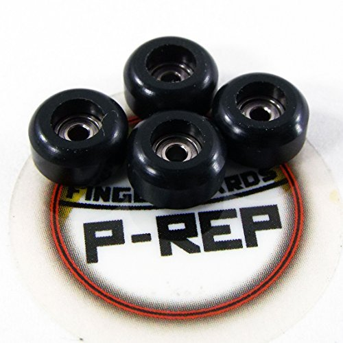 Peoples Republic P-REP Fingerboard CNC Lathed Bearing Wheels - Black (Fingerboard Wheels)