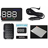FidgetFidget Warning Alarm A5 GPS HUD Head Up Display Km/h MPH Digital Speedo Speed 3.5inch