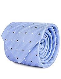Corbata Brera En Tejido De Jacquard Con Diseño De Puntos Azul Claro Unitalla