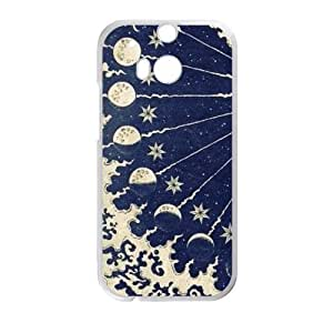 Canting_Good Black Sun and Moon Custom Case Shell Skin for HTC One M8 (Laser Technology)
