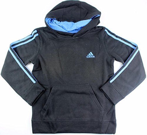 Outerstuff adidas Youth Fleece Collection (Youth Xlarge 18/20, Fleece Pullover Hoodie, Black/Blue) by Outerstuff