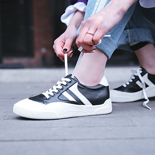 Femme Chaussures Baskets Lacets Odécontractée Noir Cuir Derby Roseg qad614q