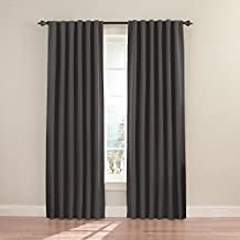 Eclipse Fresno Blackout Window Curtain Panel, 52 x 95-Inch, Charcoal
