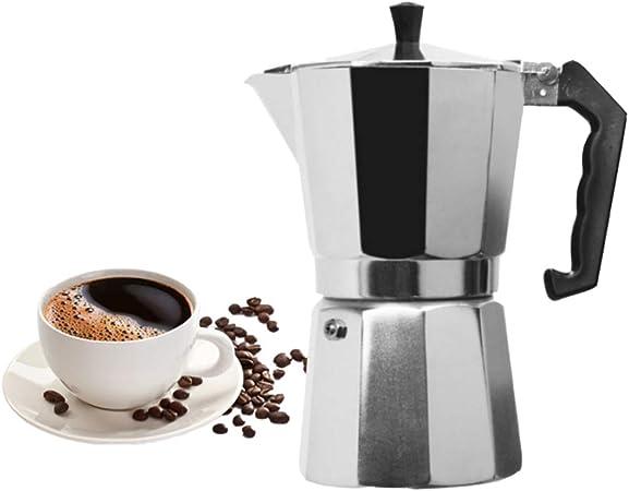 NiQiShangMao Cafetera Aluminio Mocha Espresso Percolator Pot Olla Moka para 1 Taza / 3 Tazas / 6 Tazas / 9 Tazas / 12 Tazas: Amazon.es: Hogar