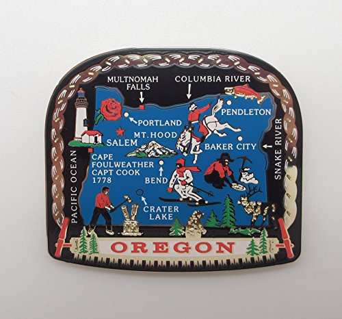 Oregon State Landmarks MAGNET Souvenir Travel - Oregon Gift Bend Shops