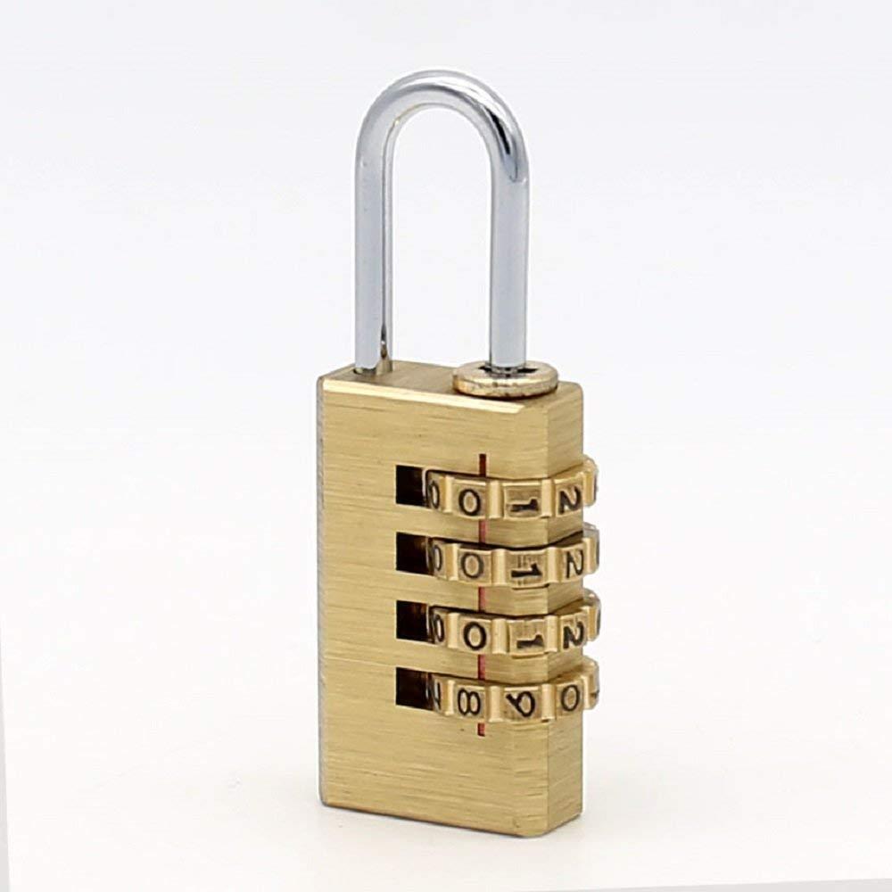4 Digits Number Password Code Lock Combination Padlock Resettable for Travelling Bag Door ming
