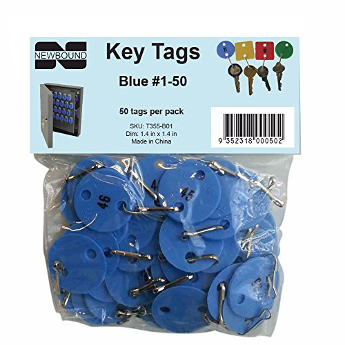 - Numbered Key Tags #1-50 (Blue)