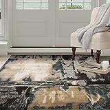 Cheap Lavish Home Opus Artfully Abstract Area Rug, 8 x 10′, Grey