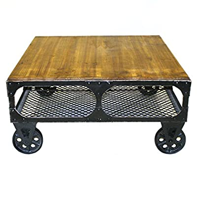 Pangea Home Z CT Small Amber Alfred Coffee Table, - Manufacturer: Pangea Home Material Type: wood Color NAME: Amber - living-room-furniture, living-room, coffee-tables - 51cVdaKBjnL. SS400  -
