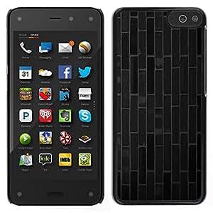 EJOY---Cubierta de la caja de protección para la piel dura ** Amazon Fire Phone ** --Ladrillo azulejos líneas modelo gris oscuro