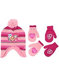 Little Girls Paw Patrol Character Hat and 2 Pair Mittens...