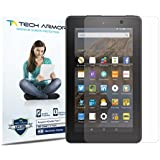 """Tech Armor Kindle Fire 7"""" Screen Protector, High Definition HD-Clear Amazon Kindle Fire 7"""" (2015) Film Screen Protector (Not Glass) [3-Pack]"""