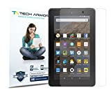 Tech Armor Kindle Fire 7 Screen Protector, High Definition HD-Clear Amazon Kindle Fire 7 (2015) Film Screen Protector [3-Pack]