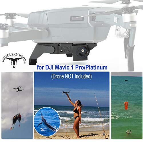 Professional Release and Drop Device for DJI Mavic 1 Pro/Platinum, for Drone Fishing, Bait Release, Payload Delivery, Search & Rescue, Fun Activities by Drone Sky Hook (Fishing Bait Launcher)
