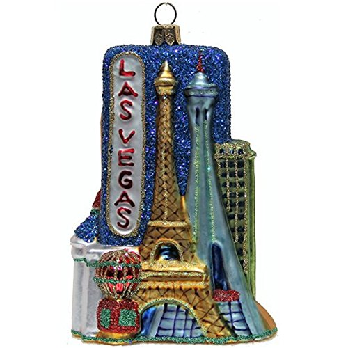 CDL 5 inches Las Vegas Ornament souvenirs cityscape glass blown ornaments (5