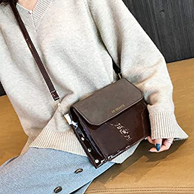 fafb876b317e Amazon.com: Women Bag JIUDASG Scrub Bag Wild Chain Rivet Shoulder ...
