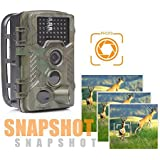 BDFA Trail Camera 16MP 1080P Full HD Wildlife Scouting Hunting Camera with 120°Detecting Range Motion Activated Night Vision 0.2S Trigger Speed 2.4 LCD Display