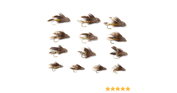 1 Doz Muddler and Mini Muddler Flies 4 variations #08-10 A.Jensen Top Quality