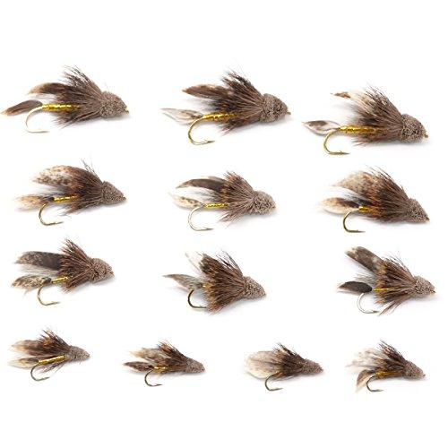 Trout Fly Assortment - Muddler Minnow Streamer Flies Collection - 1 Dozen Flies - Sizes 4, 6, 8, (Minnow Streamer)