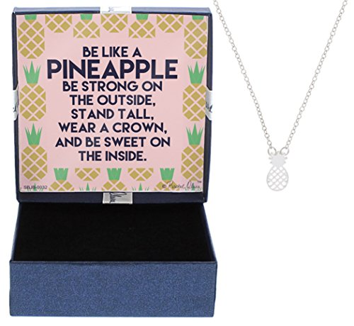 Pineapple Necklace Jewelry Silver-Tone Fashion Preppy Jewelry Cable Chain Necklace Jewelry Box Keepsake Valentines Day Gift